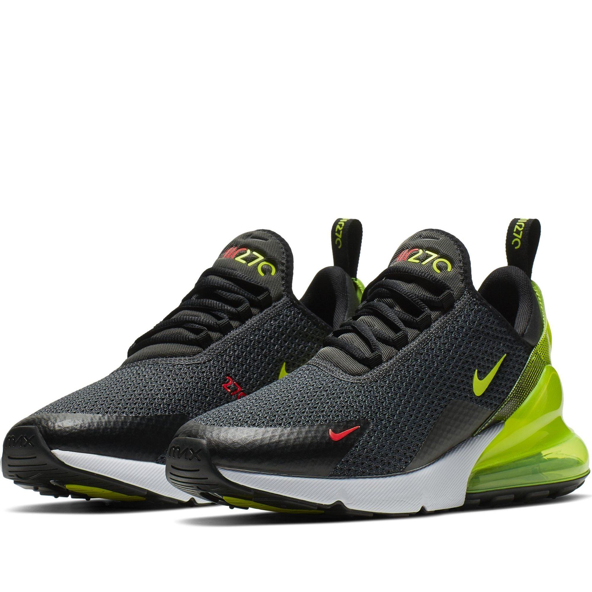 Nike Shoes Mens Air Max 270 SE Anthracite Volt Black Bright
